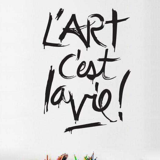 ADZif BlaBla L'art C'est la Vie! Wall Decal