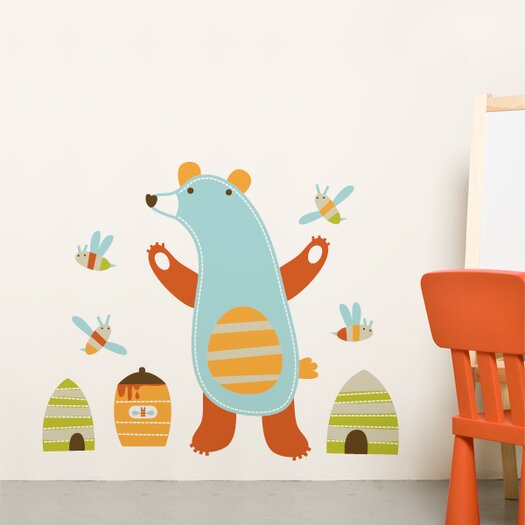ADZif Piccolo Emil the Bear Wall Decal
