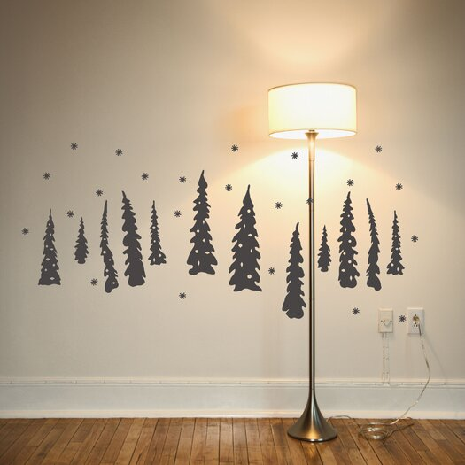 Christmas 2013 Tree Under The Snow Wall Decal