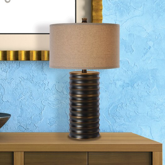 "Trend Lighting Corp. Wave 28.5"" H Table Lamp with Drum Shade"