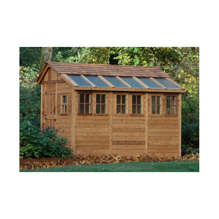 Sunshed 8 Ft. W x 12 Ft. D Wood Garden Shed | Wayfair on Outdoor Living Today Sunshed id=66764