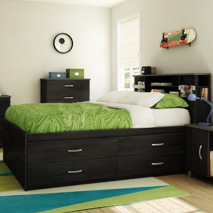 lazer captain bed with storage wayfair. Black Bedroom Furniture Sets. Home Design Ideas
