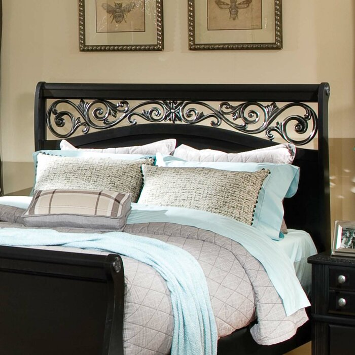 standard furniture madera sleigh customizable bedroom set reviews wayfair. Black Bedroom Furniture Sets. Home Design Ideas