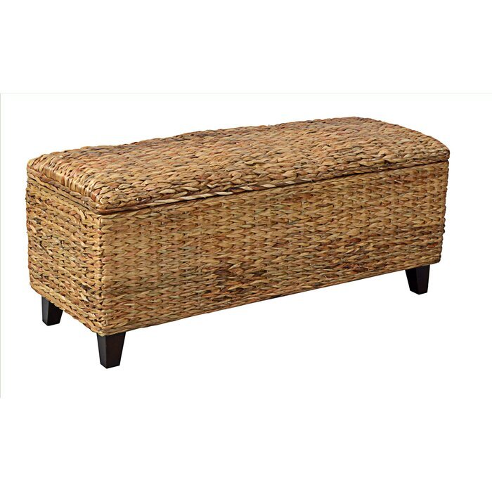 Bay Isle Home Milan Wicker Storage Bedroom Bench