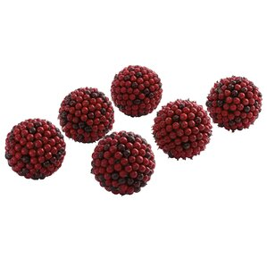 Faux Berry Ball Decor (Set of 6)