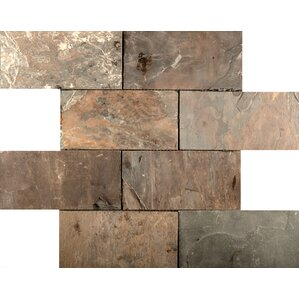 Slate Mosaic Tile in Rustic Gold