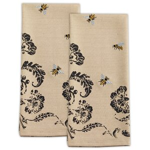 Bumblebee Embroidered Dishtowel (Set of 2)
