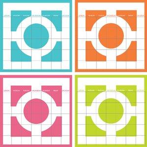 4-Piece Dry-Erase Calendar Set