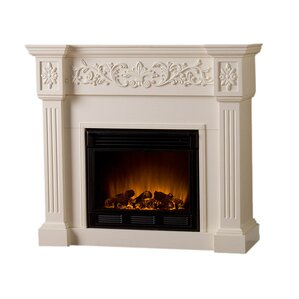 Curtis Electric Fireplace in Ivory
