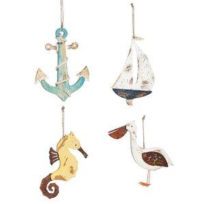 4-Piece Coastal Ornament Set (Set of 4)