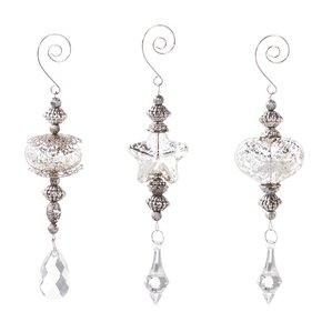 3-Piece Tiered Glass Ornament Set