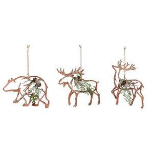 3-Piece Lodge Ornament Set