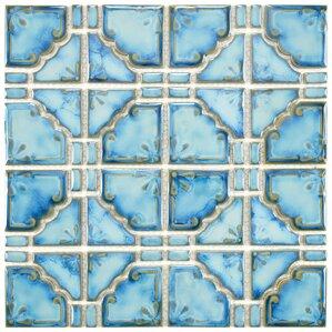 """Moonlight 11.75"""" x 11.75"""" Porcelain Tile in Diva Blue"""