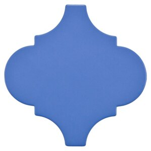 Quatrefoil Porcelain Tile in Blue