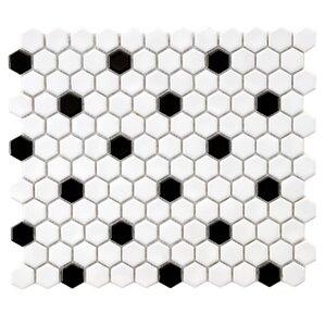"Hexagon 0.875"" Porcelain Tile"
