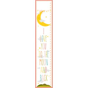 I Love You To The Moon and Back Growth Chart