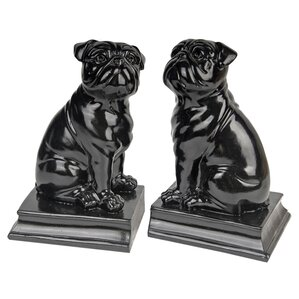 Sitting Pug Bookends (Set of 2)