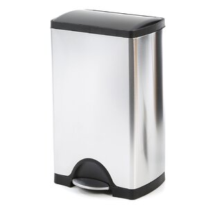 10 Gal. Stainless Steel Trash Can with Liner