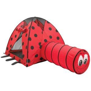 Ladybug Kids' Play Tent & Tunnel