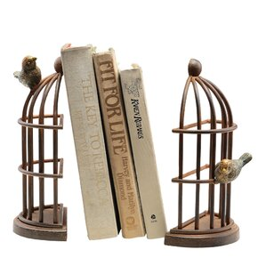 Bird Cage Bookends (Set of 2)