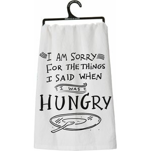 When I Was Hungry Dish Towel