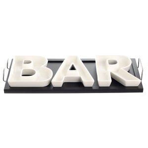 4-Piece Porcelain Bar Serving Dish Set