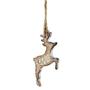 Carved Deer Ornament (Set of 12)