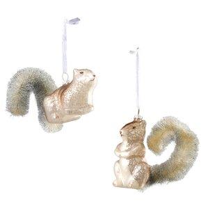 2-Piece Squirrel Ornament Set (Set of 6)