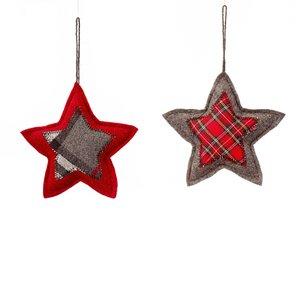 Patchwork Star Ornament (Set of 2)