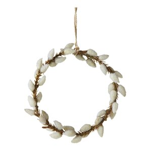 Pussy Willow Wreath Ornament (Set of 6)