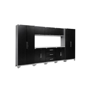 Performance Diamond Series 6' H x 11' W x 1.5' D 9 Piece Cabinet Set