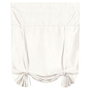 Tie-Up Rod Pocket Shade in White