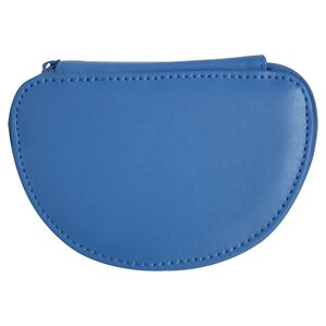 Personalized Leather Mini Jewelry Case in Ocean Blue