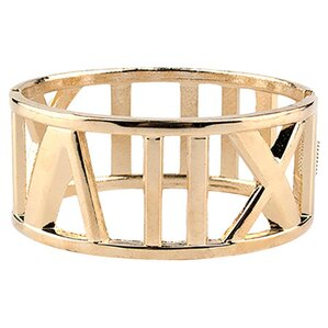 Roman Numerals Bangle, 18k Gold