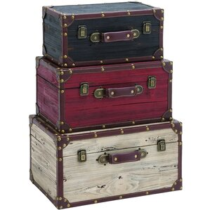 3-Piece Old Glory Trunk Set