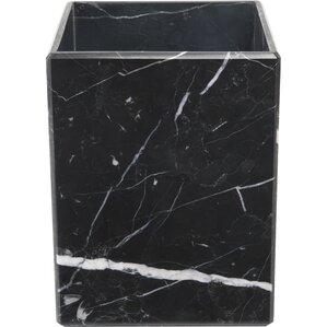 Marble Wastebasket in Black