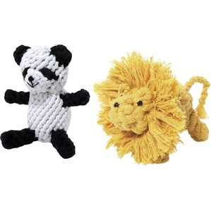 2-Piece Lion & Panda Pet Toy Set
