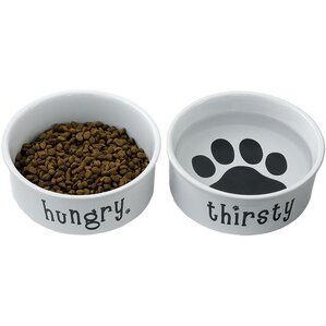 Hungry & Thirsty Pet Dish (Set of 2)
