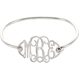 Personalized Monogram Bracelet in Silver
