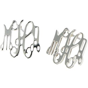 Personalized Sterling Silver Initial Earrings