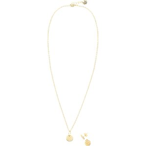 Personalized Charm Necklace & Earrings Set in Gold