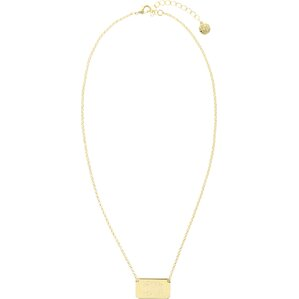 Personalized ID Tag Necklace in Gold