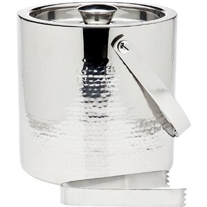 2-Piece Hammered Ice Bucket & Tong Set
