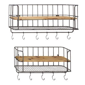 2-Piece Rachelle Wall Shelf Set