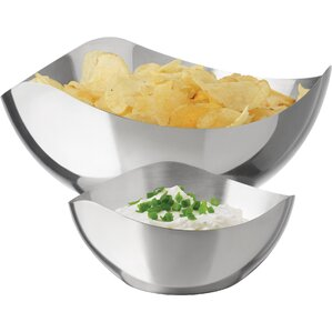 2-Piece Shona Stainless Steel Chip & Dip Set