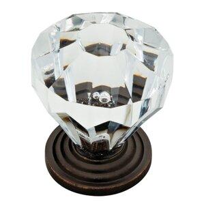 "Mona 1.24"" Crystal Cabinet Knob"