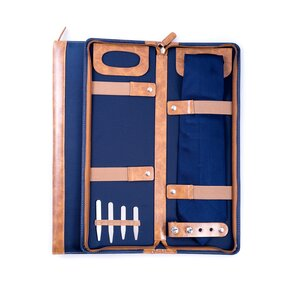 Grant Travel Tie Case in Blue