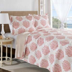 Coast Coverlet Set in Coral & White by Laura Ashley