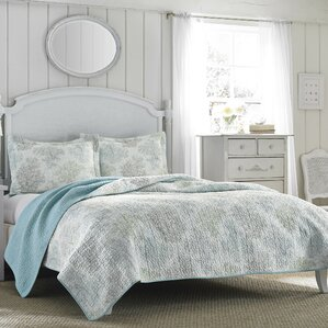 3-Piece Saltwater Reversible Coverlet Set by Laura Ashley