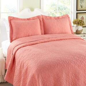 Miley Quilt Set in Coral by Laura Ashley
